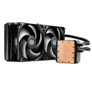 "COOLER CPU LICHID COOLER MASTER   Seidon 240V, universal, soc. LGA 2011(3)/1366/115x/775/FMx/AMx, radiator 273x27 mm, 2x Silencio FP 120mm (160K ore), 800~2400 RPM ""RL-S24V-24PK-R1"""