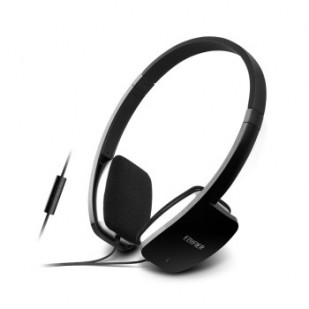 Casti EDIFIER  Mobile, microfon integrat, control volum pe fir, jack 3.5mm, banda silicon, black (H640P)