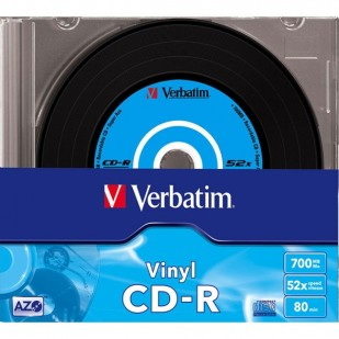 CD-R Verbatim DATALIFE PLUS 52X 700MB 10PK SC VINYL (43426)