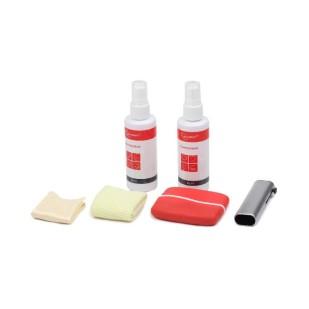 "Kit curatare LCD 6-in-1 - 2 solutii curatare, 2 pensule, 2 servetel microfibra, Gembird ""CK-LCD-003"""