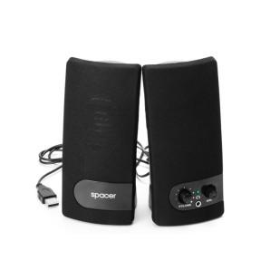BOXE 2.0 SPACER, RMS: 3Wx2, control volum, mufa casti, black, USB power (SPB-216)