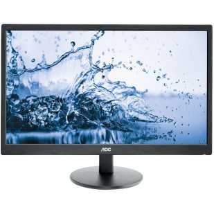 "MONITOR AOC 24"" LED, 1920x1080, mai putin de 1ms, 250cd/mp, vga+dvi+hdmi (E2460SH)"