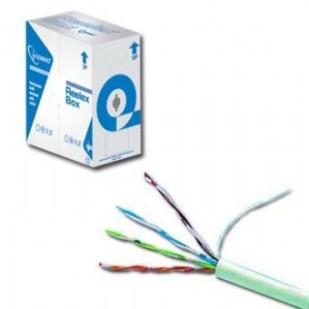 Cablu UTP cat. 5E AWG24 solid CCA, lungime rola: 305m, retail, Gri, GEMBIRD (UPC-5004E-SOL)