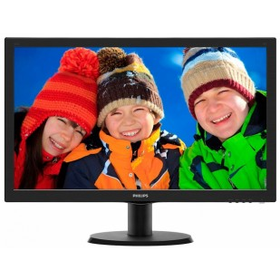 "MONITOR PHILIPS 23.6"" LED, 1920x1080, 8ms, 250cd/mp, vga+dvi (243V5QHSBA/00)"