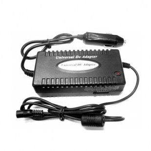 Alimentator Notebook Auto universal, tensiune intrare DC 11-14V si iesire 15-20V (4A max.) / 22-24V (3.5A max), putere 80W, se conecteaza la bricheta, cu protectie scurt-circuit, supratensiuni, lungime cablu intrare: 3.5m si iesire: 1.4m, Negru, GEMB