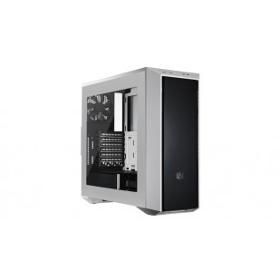"CARCASA COOLER MASTER. MasterBox 5, window version, mid-tower, ATX,  2* 120mm fan (incluse), I/O panel, white ""MCX-B5S2-WWNN-01"""