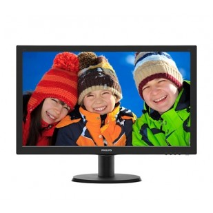 "MONITOR PHILIPS 23.6"" LED, 1920x1080, 8ms, 250cd/mp, vga+dvi, boxe (243V5QHABA/00)"