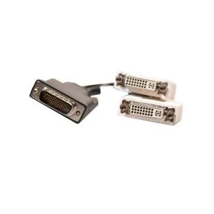 Cablu video; DMS 59 la 2 x DVI F; 0.1m