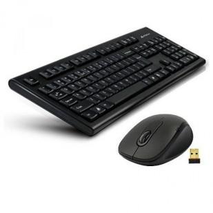 Tastatura + Mouse A4TECH 7100N,  NEGRU