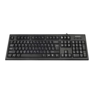 Tastatura Ergonomica USB A4TECH Comfort round, Black (KRS-85-USB), wired cu 104 taste rotunjite, ergonomice si inscriptionate laser