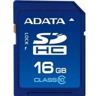 Secure Digital Card SDHC 16GB class10 ADATA (ASDH16GUICL10-R)