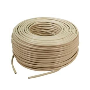 Cablu UTP cat. 5e, 4x2 AWG 24/1, din PVC, solid, lungime rola: 305m, retail, Bej, LOGILINK (CPV0020)