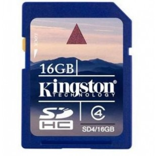 Secure Digital Card SDHC 16GB class 4 KINGSTON (SD4/16GB)