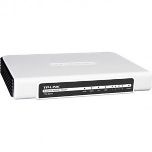 "ROUTER cu management, TP-LINK model: External ADSL2; WIRELESS; PORTURI: 4 x RJ-45 ; ""TD-8841"""