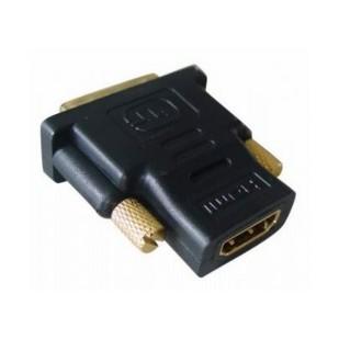 Adaptor HDMI 19 pini la DVI mama-tata, conectori auriti, bulk, Negru, GEMBIRD (A-HDMI-DVI-2)