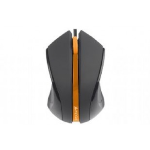 Mouse Optic USB A4TECH V-Track (N-310-1), Black/Orange, wired cu 3 butoane si 1 rotita scroll, rezolutie 1000-2000dpi si cablu 60cm