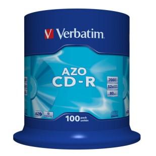 CD-R Verbatim CRYSTAL AZO 52X 700MB 100PK SPINDLE DATALIFEPLUS (43430)