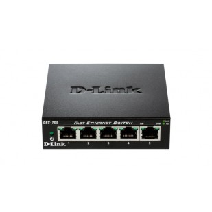 Switch unmanaged  5 port-uri 10/100M, carcasa metalica, D-LINK (DES-105)