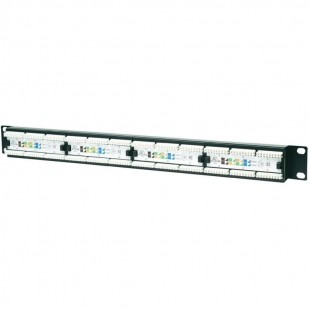 "Patch Panel Intellinet 24 porturi,  UTP, Cat6, 1U pentru rack 19"" (520959)"