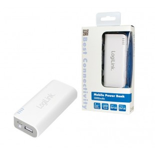 POWER BANK LOGILINK; model: PA0084; capacitate: 5000mAh; culoare: ALB