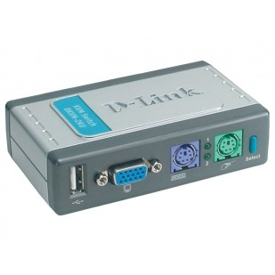 Switch KVM 2 porturi, PS/2 + USB2.0, cabluri incluse, D-Link (DKVM-2KU)