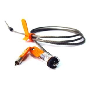 Cablu securitate notebook Kensington MicroSaver, otel, 1.80 m lungime, 5.3mm grosime, tehnologie avertizare furt, doua chei (64020)