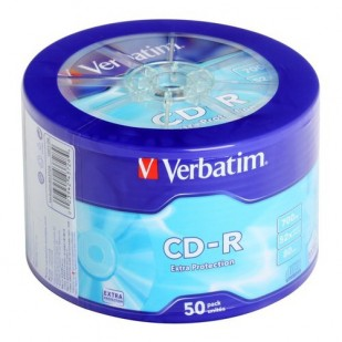 CD-R 52X 50 BUC SHRINK 700 MB WAGON WHEEL VERBATIM
