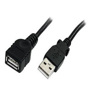 Cablu PC; USB 2.0 M la USB 2.0 F; 3m