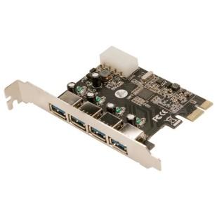 Adaptor LOGILINK; 4 x USB 3.0 F la USB 3.0; PC0057A