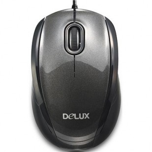 MOUSE DELUX USB BLACK DLM-126BU