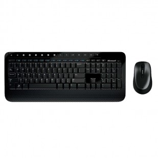 Kit Tastatura + Mouse MICROSOFT, model: DESKTOP 2000, layout: US, NEGRU, USB, WIRELESS, MULTIMEDIA