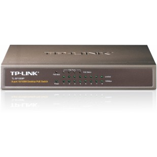 Switch Power Over Ethernet 8 porturi 10/100 TP-LINK TL-SF1008P - 4 porturi POE