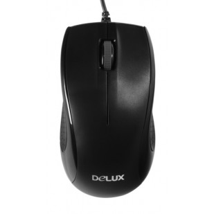 Mouse DELUX; model: DLM-375; NEGRU USB;