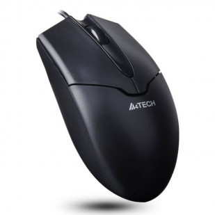 MOUSE A4TECH   V-track Padless  USB, metal feet, Black (OP-550NU-1)