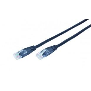 CABLU UTP Patch cord cat. 5E,  1m (PP12-1M/BK) negru