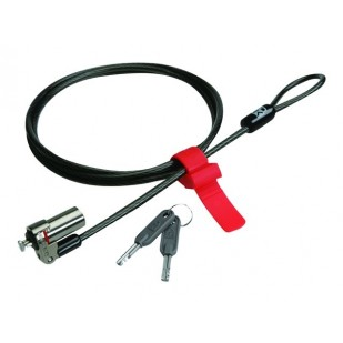 Cablu antifurt notebook ultrabook Kensington MicroSaver Keyed Lock, 1.50m lungime, doua chei (K66533WW)