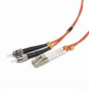 Cablu Fibra Optica, conectori LC-ST, lungime cablu 5m, duplex multimode, bulk, Portocaliu-negru-alb, GEMBIRD (CFO-LCST-OM2-5M)