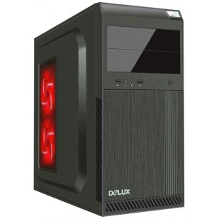 CARCASA Delux,  cu sursa 450W, ATX Mid-Tower, Front USB+Audio, black (DC610)