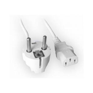 Cablu Alimentare cu priza Shuko cu impamantare si pini de 4.9mm, lungime cablu: 1.8m, bulk, Alb, GEMBIRD (PC-186W-VDE)