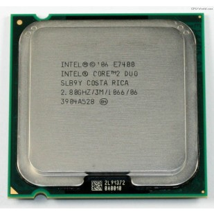 PROCESOR: INTEL; CORE 2 DUO; E7400; 2.8 GHz; socket: LGA775; REF