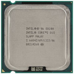 PROCESOR: INTEL; CORE 2 DUO; E8200; 2.66 GHz; socket: LGA775; REF