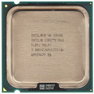 PROCESOR: INTEL; CORE 2 DUO; E8400; 3.0 GHz; socket: LGA775; REF