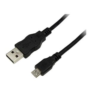 Cablu USB 2.0, A(T) - Micro B(T), black, 1,0m, Logilink (CU0058)