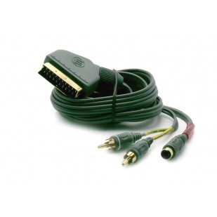 Cablu video; SCART M la mini-DIN 4pini M, 2 x RCA M; 10m
