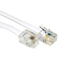 Cablu telefon; RJ-11 M la RJ-11 M; 1m