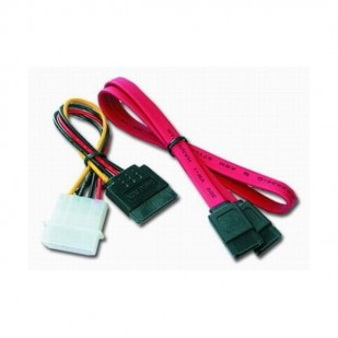 Cablu de date intern S-ATA 48cm + Cablu Alimentare S-ATA 15cm, bulk, GEMBIRD (CC-SATA)