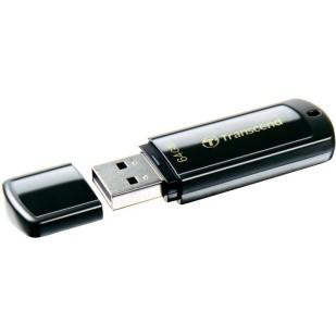 USB 2.0  64GB TRANSCEND JetFlash 350 Black (TS64GJF350)
