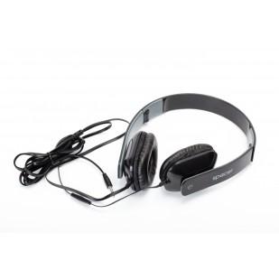 Casti cu microfon SPACER SPK-205, black