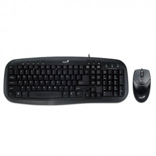 Kit Tastatura + Mouse GENIUS; model: KM-200; layout: US; BLACK; USB
