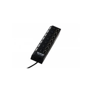 SPACER HUB; USB 2.0 F la 7xUSB 2.0 M; SPH-208
